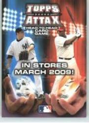 2009 Topps #NNO Topps Attax Head-to-Head Card Game Promo - Free Code to Play (Baseball Cards)