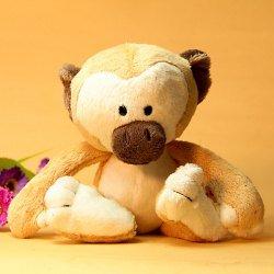 Small Size Adorable Monkey Soft Plush Stuffed Toy (Yellow)