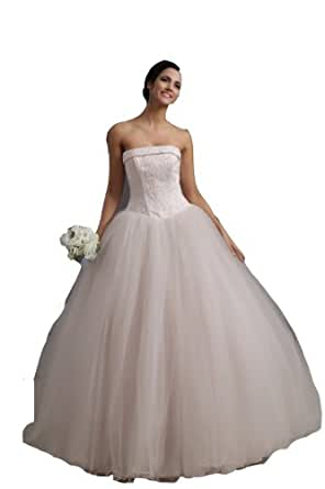 bridal ball gown lace up beading floor length bridal garden wedding