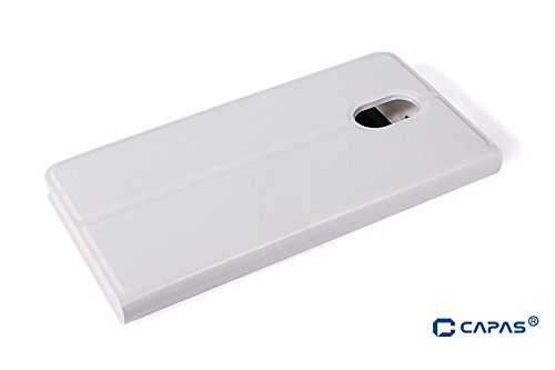 finest selection c8963 0c51a Buy Newtronics White Premium Luxury PU Leather Flip Cover Case With ...