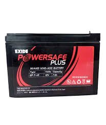 12v 7 AH Exide PowerSafe Battery(Sealed) - Original Replacement to UPS Battery