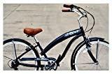 "Anti-Rust Aluminum Alloy Frame! Fito Modena EX Alloy 7-speed Women - Midnight Blue, 26"" Beach Cruiser Bike Bicycle, Shimano Equipped"