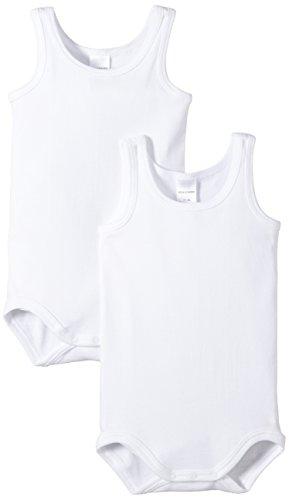 Bóboli Baby 220152-100 - Body senza maniche, confezione da 2, bambino, Bianco (Weiß (100-weiss)), 80 (9 mesi)