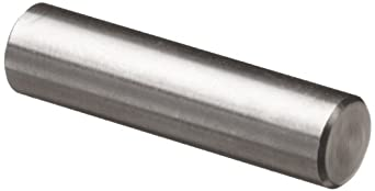 "316 Stainless Steel Dowel Pin, 1/4"" Diameter, 2"" Length (Pack of 25)"