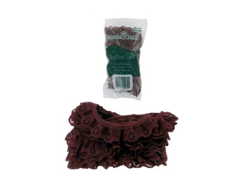 Cranberry-Colored Lace For Crafting Or Sewing - Case of 100