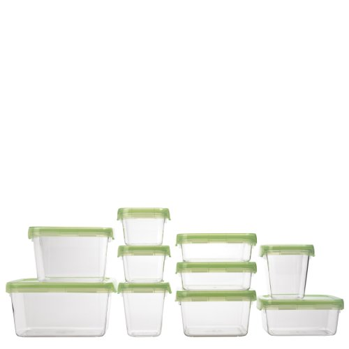 OXO Good Grips 12 Piece LockTop Container Set with Green Lids