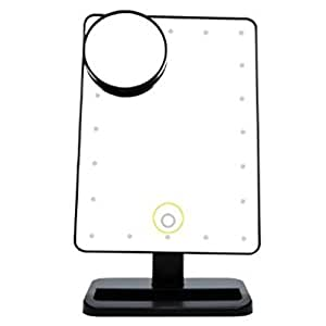 beneu cosmetic makeup tools rectangular led lighted vanity mirror with 10x. Black Bedroom Furniture Sets. Home Design Ideas