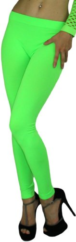 ToBeInStyle Women's Footless Elastic Neon Leggings /Tights - Many Colors