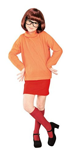 Girls Scooby Doo Velma Kids Child Fancy Dress Party Halloween Costume