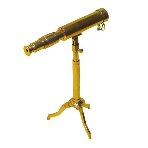 Benzara Br48542 Telescope, Tripod Brass Nautical Accents