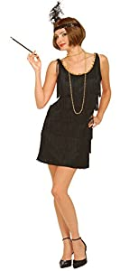 Forum Novelties Women's Flapper Costume Dress, Black, Medium/Large