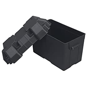 "Moeller Injection-Molded Marine Battery Box (One 27, 30 or 31-Series Battery, 13.44"" x 7.75"" x 10.5"")"