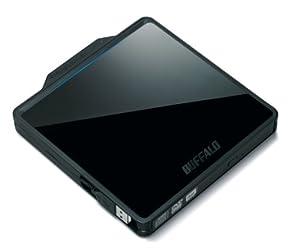 BUFFALO 再生ソフト付き USB2.0用 ポータブルDVDドライブ DVSM-PCS58U2-BK