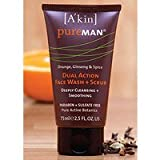 Akin PureMAN Dual Action Face Wash Scrub - 75ml