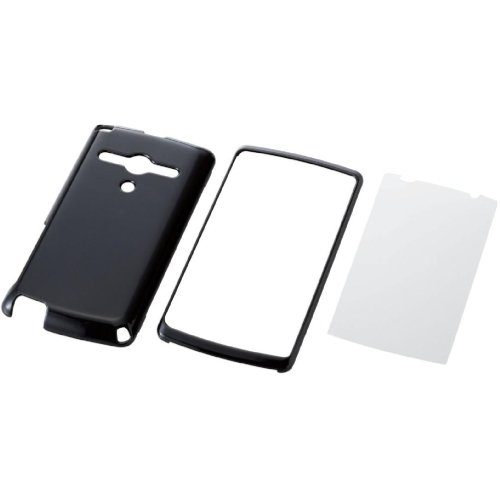 ELECOM au REGZA Phone IS11T用シェルカバー ブラック PA-TS11PVBK