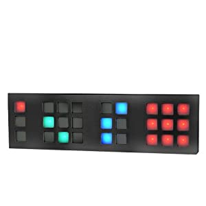 TIX Color Code LED Clock, Black