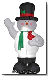 8-Foot Outdoor Inflatable Snowman