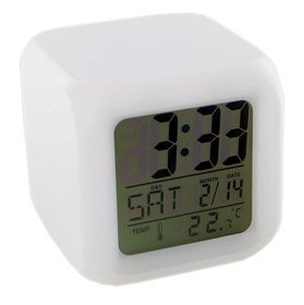 Brand New Generic Glowing LED Color Mood Changing Digital Alarm Clock High Quality Practical