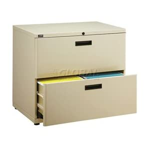"30"" Lateral File Cabinet 2 Drawer Putty"