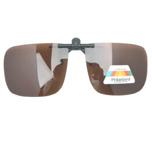 Eyekepper Große Sonnenbrillen-Clip für Brillenträger Braun