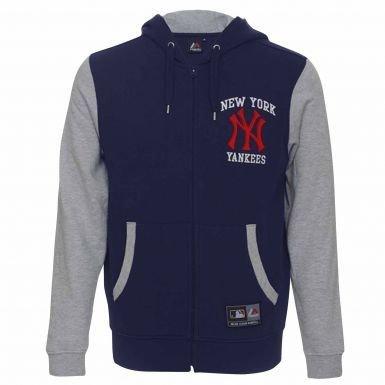 New York Yankees, con stemma ufficiale Felpa con cappuccio e zip, unisex adulto