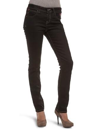 Puma Women's Evisu Long Skinny Denim Jeans Black 550054-08 30WX34L