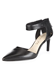 Autograph Leather Pointed Toe Shoes with Insolia®