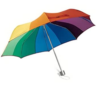 Amazon.com: Collapsible COLORWHEEL UMBRELLA by MoMA -: Clothing
