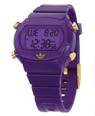 Adidas Purple Polyurethane Strap Watch