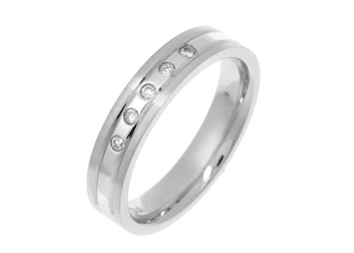 Diamond Wedding Ring in 9ct White Gold