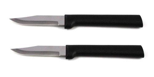 Rada Cutlery Peeling Paring Knife, W202/2, Black Handle, Pack Of 2