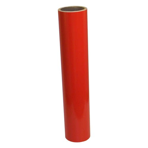 Vinyl Oasis Craft & Hobby Vinyl - Gloss Tomato Red W/ Permanent Adhesive - 12 In. X 10 Ft. Roll front-799318
