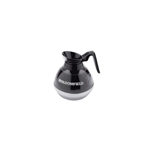 Bloomfield REG8890BL24 Unbreakable Decanter, Plastic with Stainless Steel Bottom, Black Handle (Pack of 24)