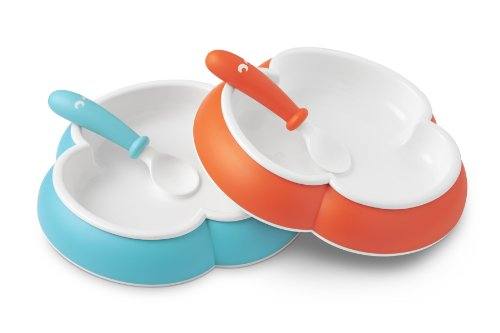 babybjorn-baby-plate-and-spoon-2-pack-orange-turquoise