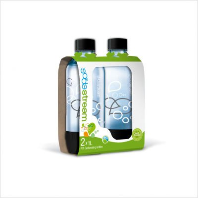 SodaStream 1L Carbonating Bottles (Twin Pack)