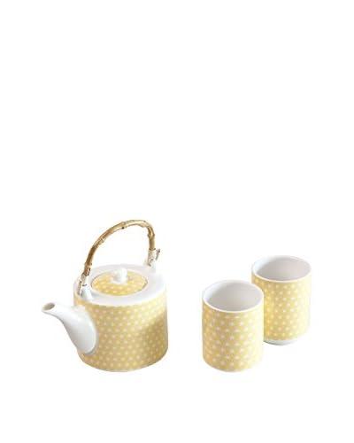Molecuisine Juego De Té 3 Piezas Oriented Tea Time Amarillo