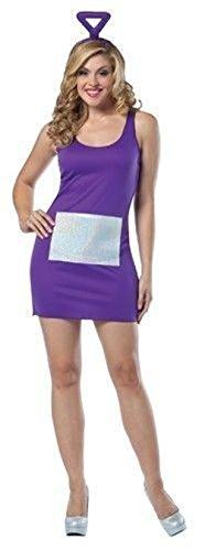 Teletubbies Tinky Winky Lady Costume Fancy Tank Dress Std 4-10 Purple Adult (2)