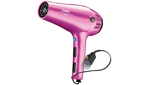 Conair 1875 Watt Cord-Keeper Styler and Hair Dryer, with Ionic Conditioning, Pink (Hair Dryer With Diffuser Ionic compare prices)