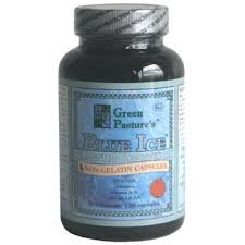 Green Pasture Blue Ice Fermented Cod Liver Oil - ORANGE Flavor - 120 Capsules