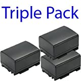 Premium Range -Triple Pack- 3x Canon BP-808 Compatible Digital Camera Battery For CANON BP-808 FS SERIES FS10 FS11 FS100 - Star-E-Shop