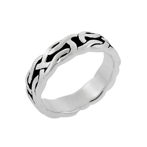 Sterling Silver Celtic Knot Band Ring, Size 10