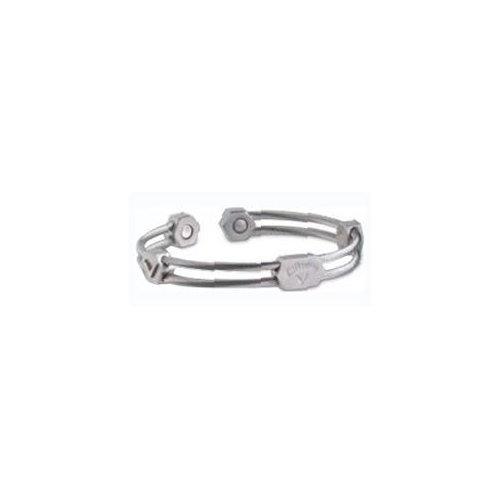 """Callaway Dual Braid Silver Ionetix 7.5"""" Bracelet"""