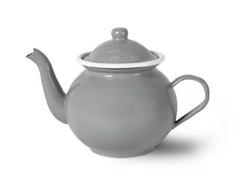 Teekanne, Emaille, 1-teilig, Farbe: Flint