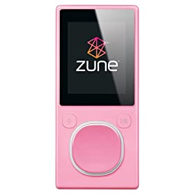 31ThKUch8 L. SL500 AA280  Microsoft Zune 4 GB Digital Media Player Pink   $95 Shipped