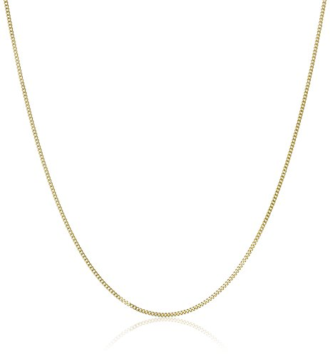 14k Yellow Gold Baby Curb Chain Necklace, 16