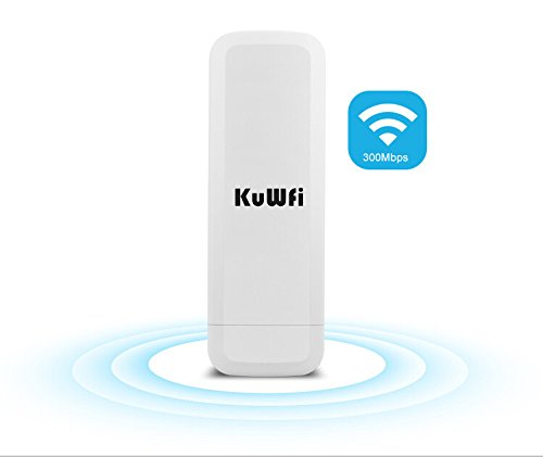 KuWFi CPE-860 WIFI 300Mpbs 2.4G Waterproof Outdoor CPE 1W High Power 3KM Long Range Wireless Outdoor AP access point CPE with POE Adapter &15dbi antenna Long Range (Long Range Wireless Ap compare prices)