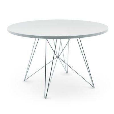 Magis-Tavolo-XZ3-Tisch-rund-wei-Gestell-chrom--120-cm