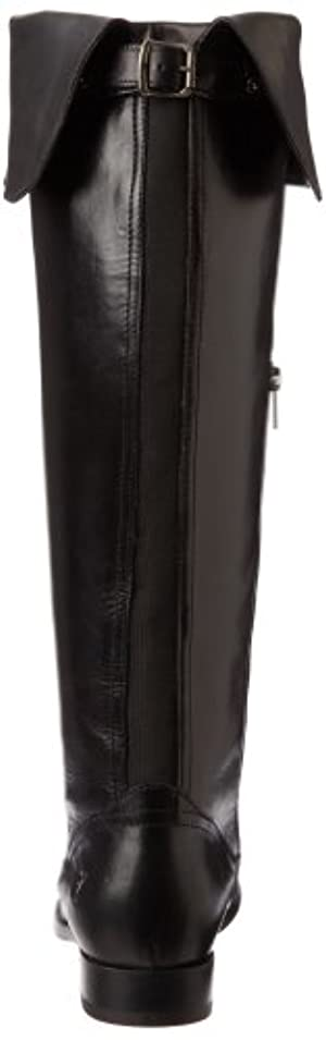 FRYE Women's Melissa Over the Knee Boot, Black Smooth Vintage Leather, 7.5 M US