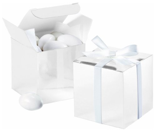 Wilton 1006-0631 White Square Favor Box Kit, 100 Count