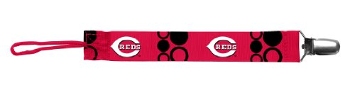 Baby Fanatic Pacifier Clip, Cincinnati Reds (Discontinued by Manufacturer) - 1
